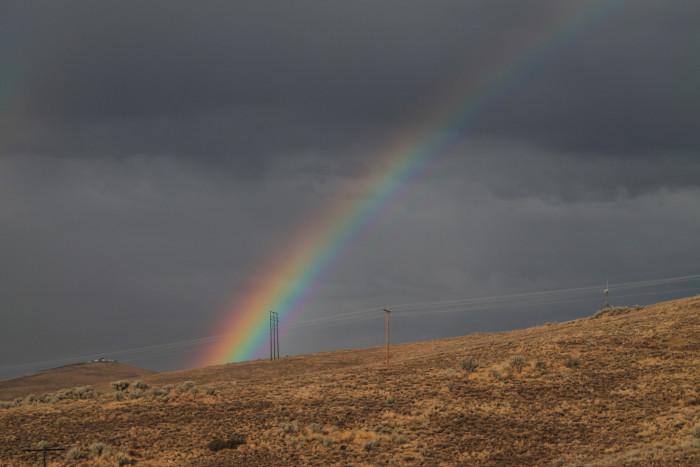 5. Rainbow Stretching Across the Adobe Range