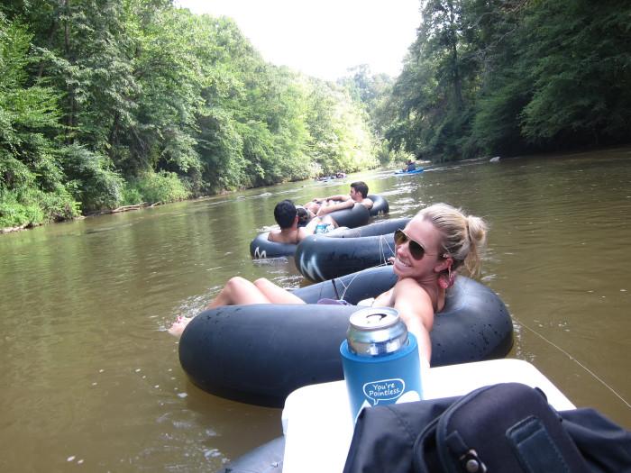 10) Go Tubing Down a River