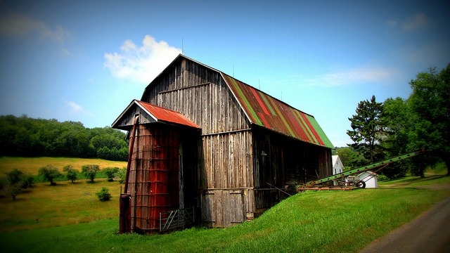 1. This multi-colored barn in Potter County will brighten your day.