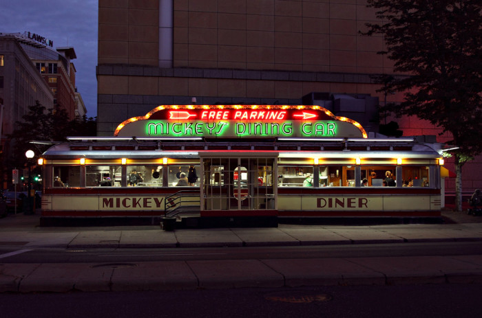 10. Mickey's Diner - In The Mighty Ducks, Jingle All the Way, and A Prairie Home Companion.