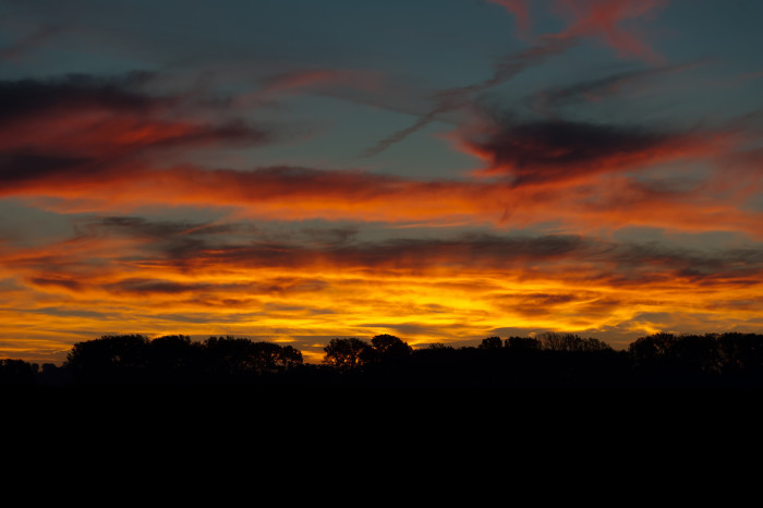 7. These gorgeous dawn clouds right before day