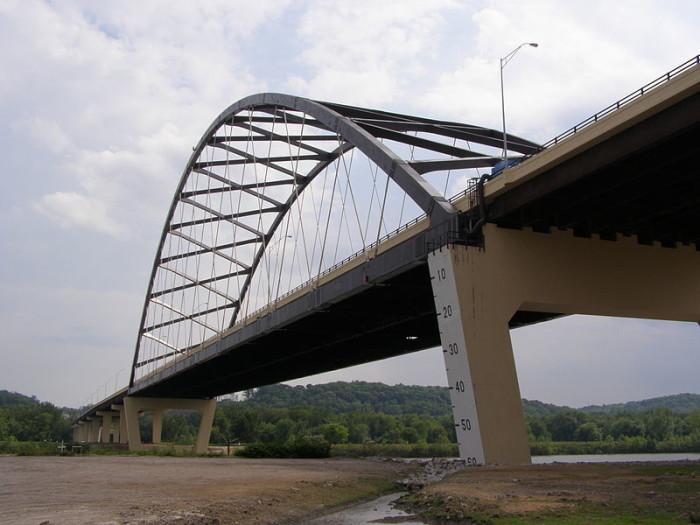 10. The Blennerhassett Island Bridge