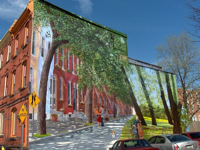 12 public art pieces in pennsylvania for Common threads mural