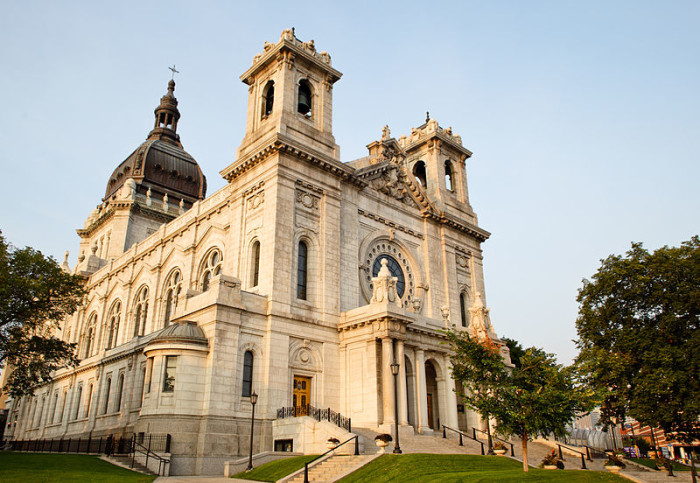 1 The Basilica of St. Mary in Minneapolis, the first Basilica in the US, is always a spectacular sight to behold.
