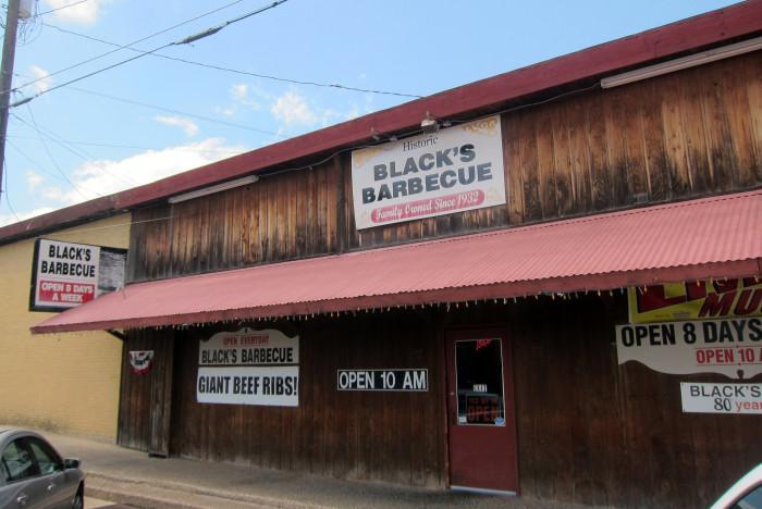 1) Black's Barbecue (Lockhart)