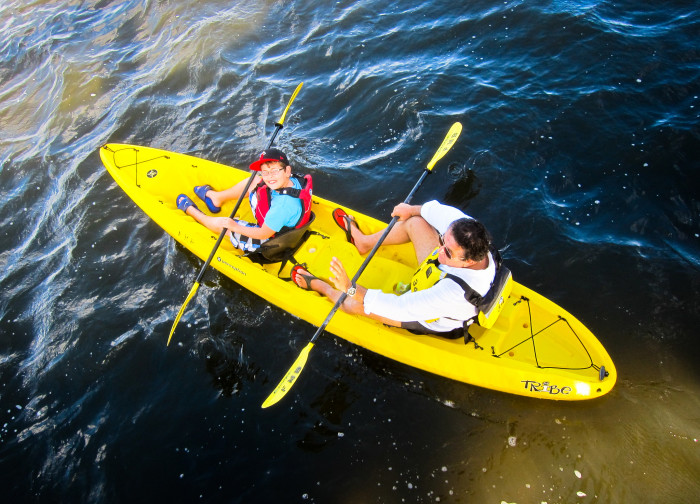 2. Try something new together, like surfing, kayaking, or snorkeling.