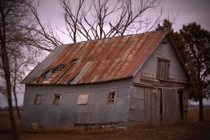 4. A Beautifully Decaying Old Barn