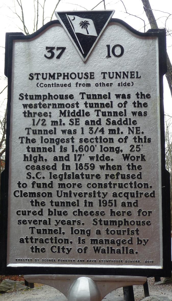 15. Stumphouse Tunnel, Oconee County, SC