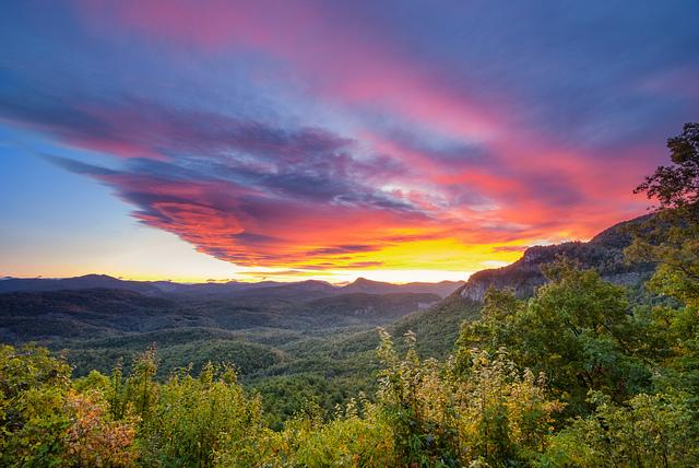 11. A beautiful Blue Ridge sunrise