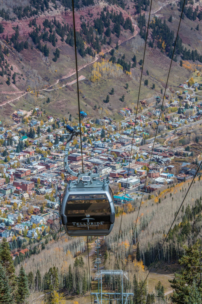 6.) On top of the world on the Telluride Gondola