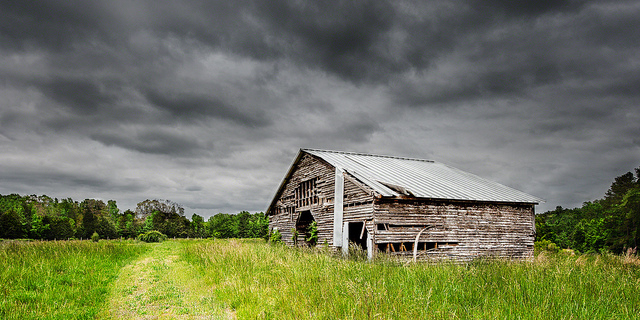 "7. ""Storm Over Barn"" by RSL Images"