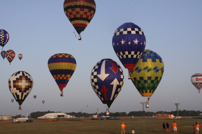 4) The Great Texas Balloon Race in Longview (July 24-26) where you can watch dozens of hot air balloons grace the Texas sky.