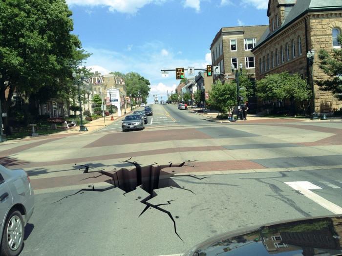 3) Death by pothole.