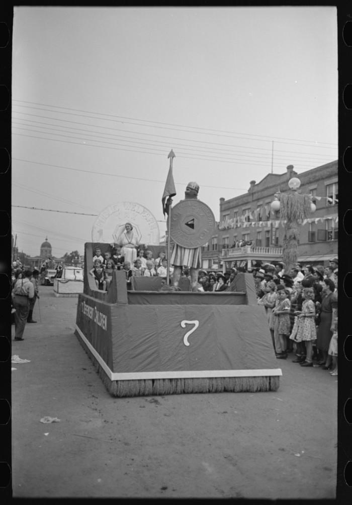12) National Rice Festival Float, 1938.