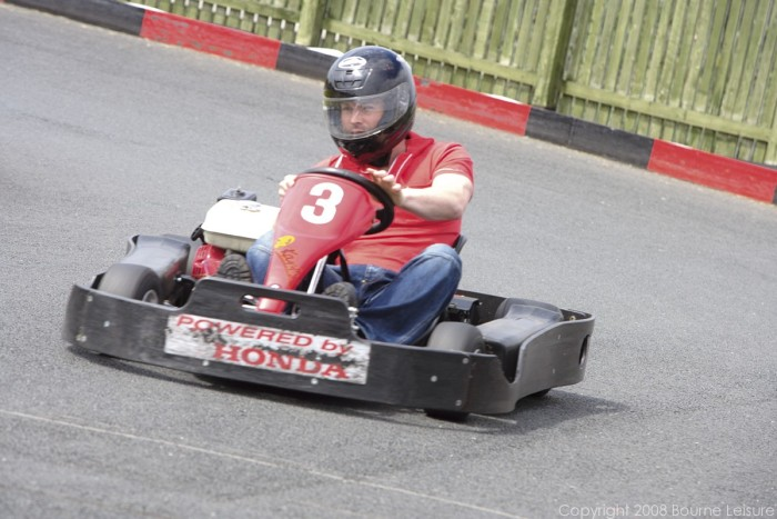 8. Challenge your friends to a go kart race
