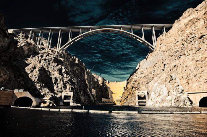 8. Hoover Dam and Mike O'Callaghan-Pat Tillman Memorial Bridge in Boulder City, Nevada.