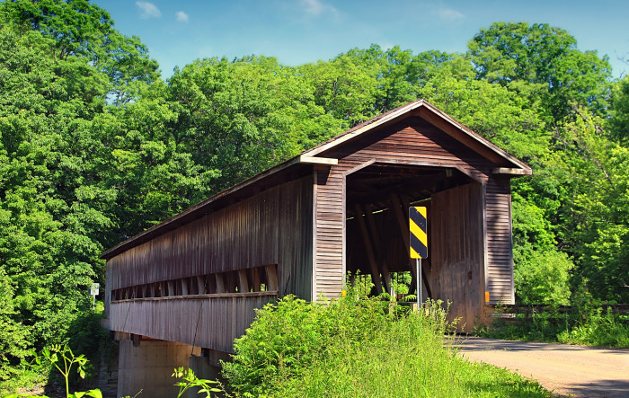 7) Middle Road covered bridge (Ashtabula County)