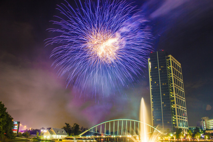 5) Red, White & Blue Festival & Fireworks Extravaganza (starting at 6PM - The Woodlands)
