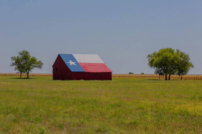13) Another Texas Flag Barn (Falls County)