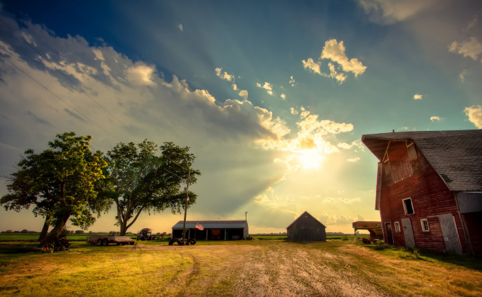 3. A Barn Near Waterloo After a Storm