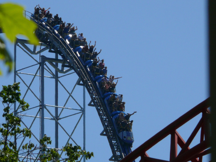 7) Facing your roller coaster fears once and for all.