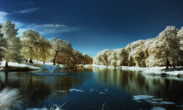 14) An exceptional infrared photo of Randol Mill Park in Arlington.