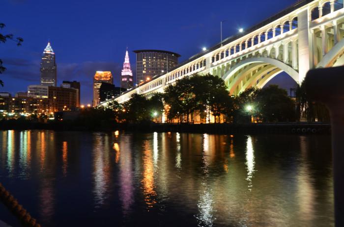 8) Cleveland skyline