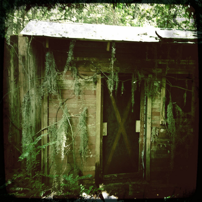 8. An abandoned shack in the woods.