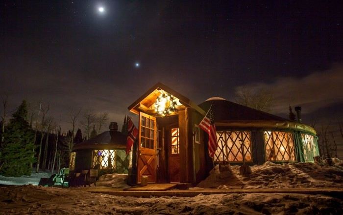 1 and 2) Dine in a Yurt; Park City and Solitude Ski Resorts