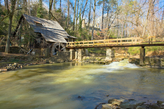 """12. The """"Old Mill"""" on Shades Creek in Mountain Brook, Alabama"""