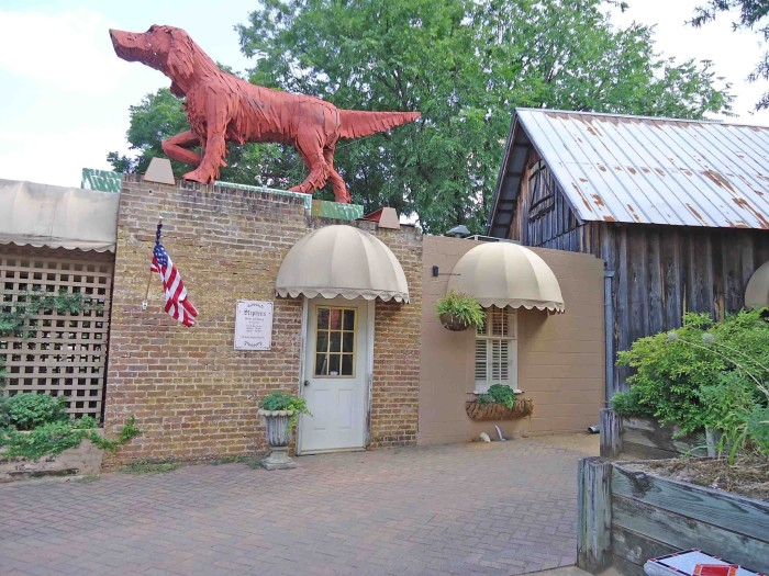 9. Giant Red Dog Statue at Kentuck Art Center - Northport, AL