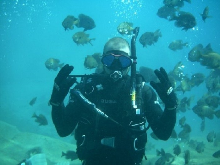 8. Take scuba diving lessons.