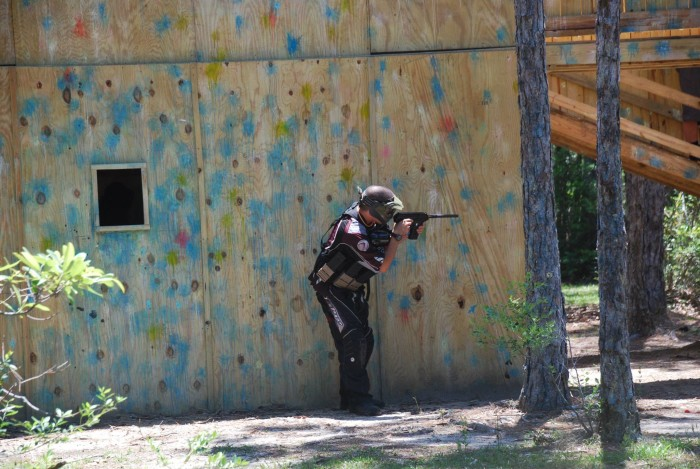 9. Go paintballing.