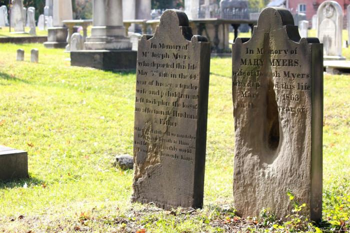 Alexandria Cemetry tombstone