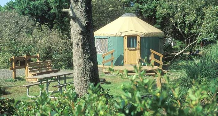 9) Beachside State Recreation Site, Rustic Yurt, Waldport