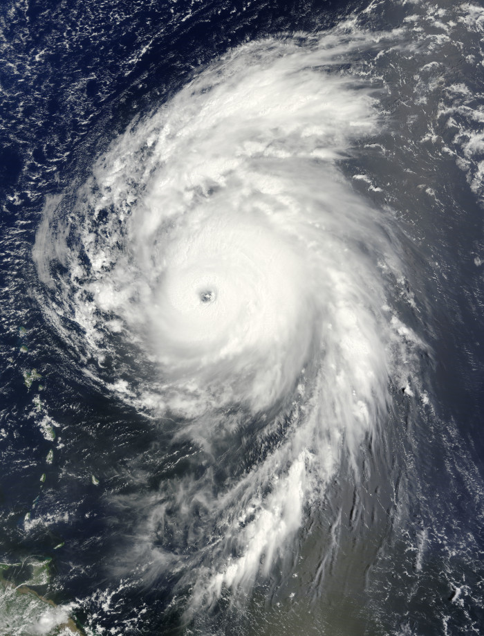 8) Hurricane Bill as a Category 4 storm