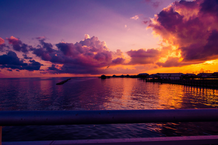 6) Sunset over the Gulf of Mexico