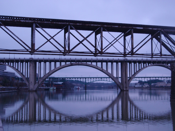 14) There's nothing like a bridge at twilight.