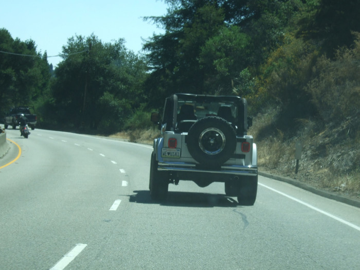 2) They always seem to pay particular attention to California license plates.