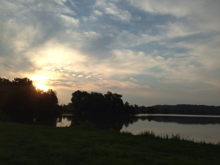 14. Creve Coeur Park: The sun warms up the trail. Take the long way and connect to the Katy Trail.