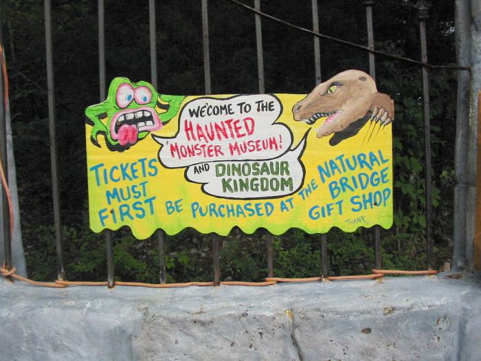 3. Mark Cline's Dinosaur Kingdom and Haunted Monster Museum, Natural Bridge