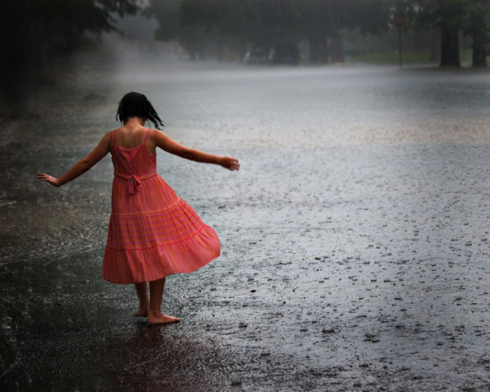 2) And when it rains---well go outside then, too.