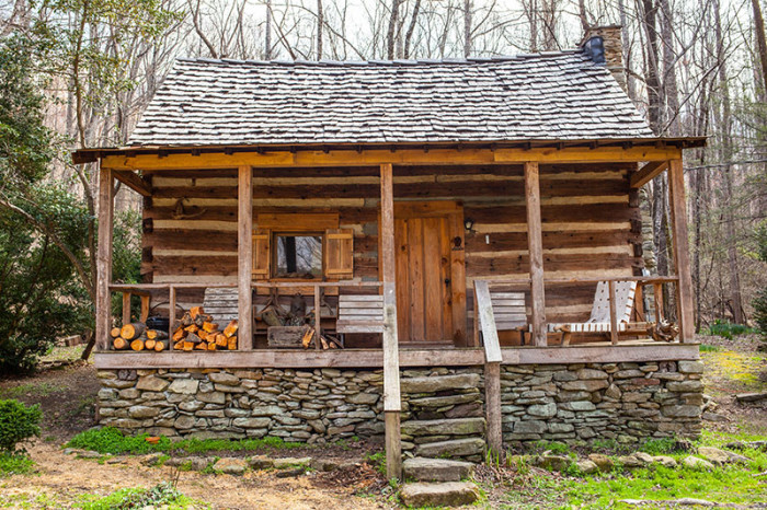 8. It doesn't get much more 'mountain charm' than the Doc Sain Cabin in Saluda.