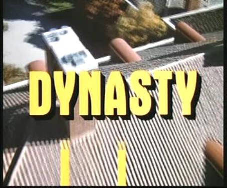 """10.) Watching """"Dynasty"""" on an old RCA Colortrak"""