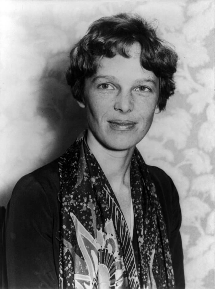 4.) Amelia Earhart
