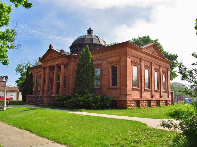 12) Escanaba Michigan, Carnegie Library 1903