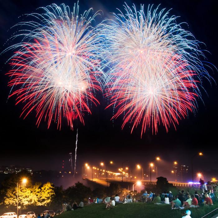 Fireworks at Lee Bridge RIC