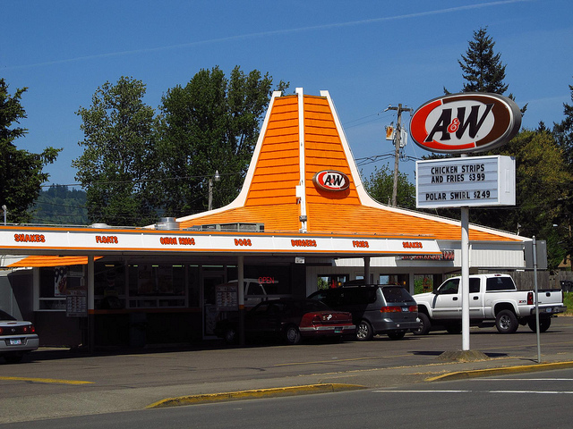 12) There was only one diner in town... A&W ;)