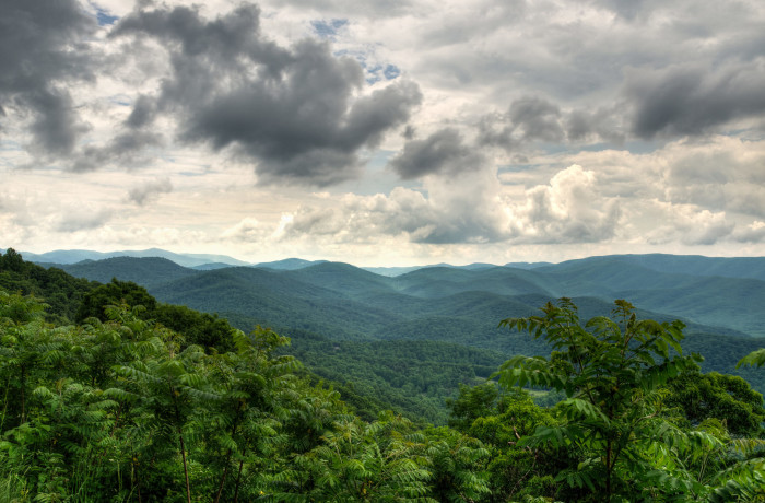 1. Looking south west from the Blue Ridge Parkway near Hickory Spring