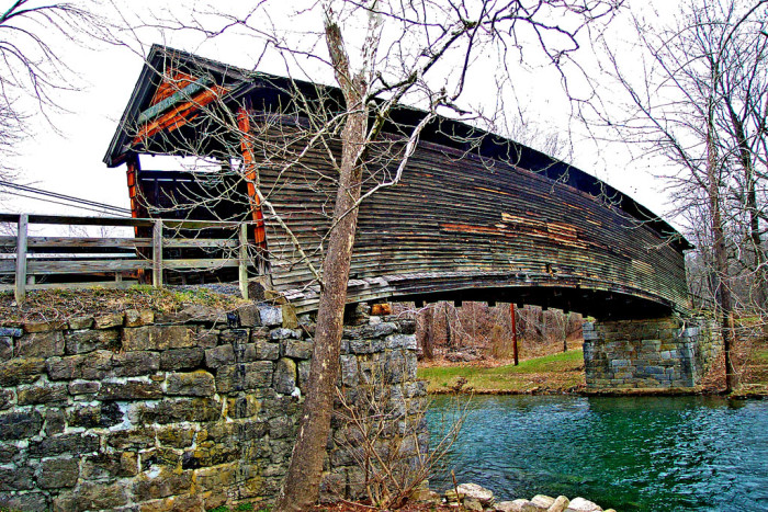 6. Humpback Covered Bridge, Covington